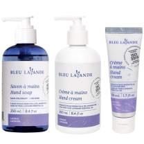Bleu Lavande Soothing Hand Care Set - Natural Lavender Products – Lavender Hand Soap and Lavender Hand Creams – Cruelty Free – No Artificial Fragrances, Parabens or Sulfates