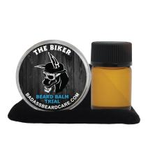 Badass Beard Care Beard Oil and Balm Trial Pack For Men - The Biker Scent - All Natural Ingredients, Keeps Beard and Mustache Full, Soft and Healthy, Reduce Itchy, Flaky Skin, Promote Healthy Growth