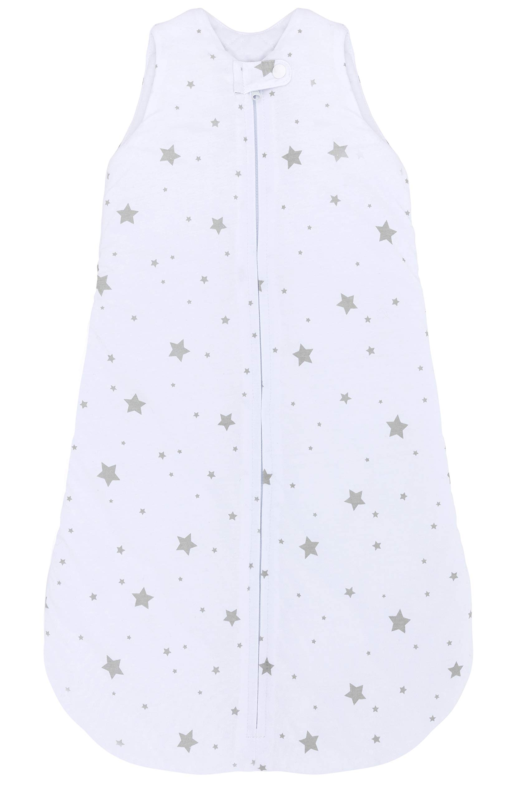 Ely's & Co 100% Cotton Wearable Blanket Baby Sleep Bag Grey Stars 2 Pack (Grey Stars, 3-6 Months)