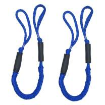 Jranter Bungee Dock Line Mooring Rope for Boat 3 ft, 2 Pieces
