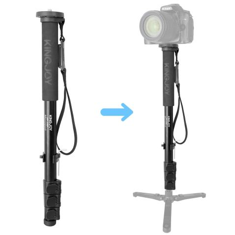 "Kamisafe KINGJOY MP208F Camera Monopod Alpenstock 52""/133cm Aluminum Flip Locks Video Monopod with 1/4"" 3/8"" Convertible Screw Compatible with DSLR Cameras Camcorder Ballhead Max Load 17.6 lbs"