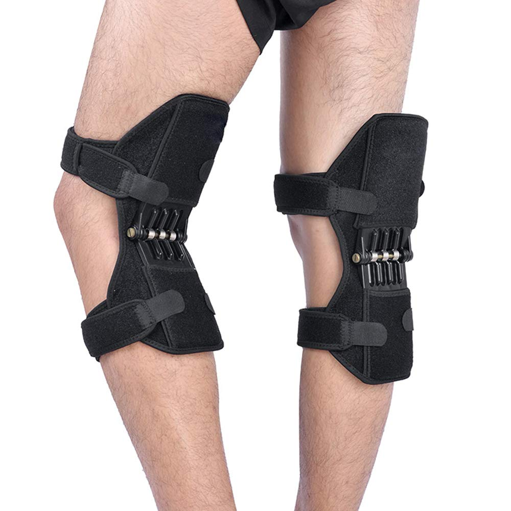 Lixada Knee Brace Support, 1 Pair Sport Spring Knee Strap Mountain Climbing Running Knee Booster Knee Pad Knee Joint Protection Kneecare Pad