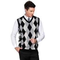 PJ PAUL JONES Essentials Men's Argyle V-Neck Sweater Vest