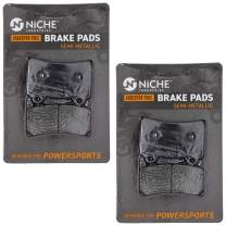 NICHE Brake Pad Set for Yamaha Royal Star Road FZR1000 FZR400S 4NK-W0046-00 Front Rear Semi-Metallic 2 Pack