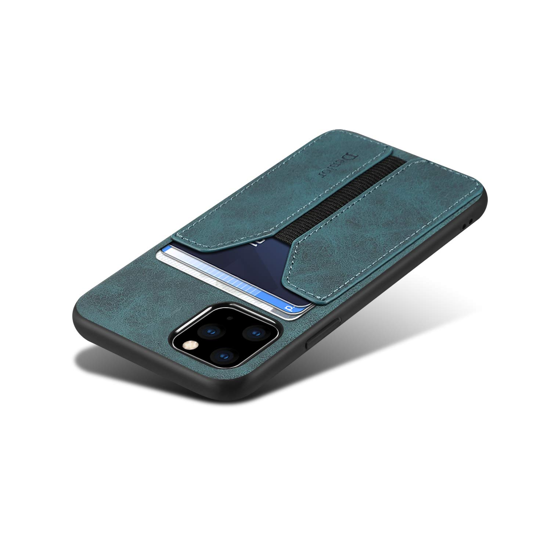 SUTENI iPhone 11 Pro Max Wallet Case, iPhone 11 Pro Max Wallet Case Slim Credit Card Slot Holder Case, PU Leather Wallet Case for iPhone 11 Pro Max 6.5 inch (Blue)