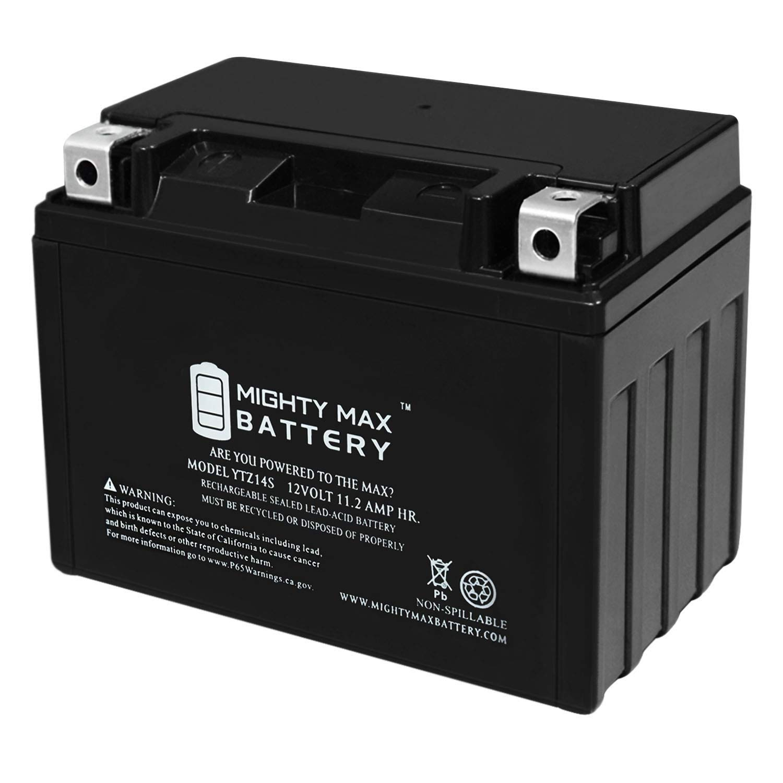 YTZ14S - 12V 11.2AH 230 CCA - SLA Power Sport Battery - Mighty Max Battery Brand Product