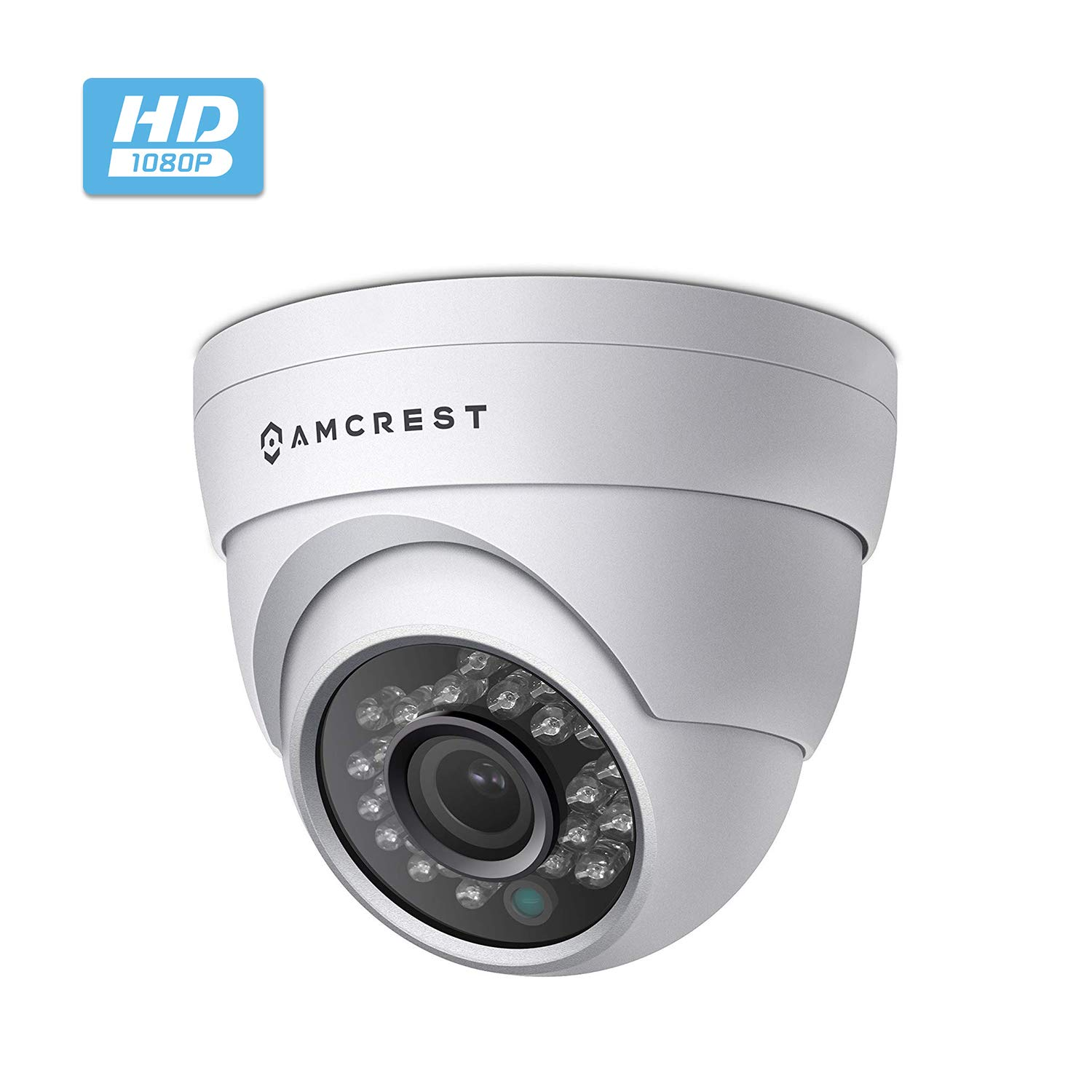 Amcrest 4MP Outdoor Dome IP Security Camera, Outdoor IP67 Waterproof, 98ft Night Vision,