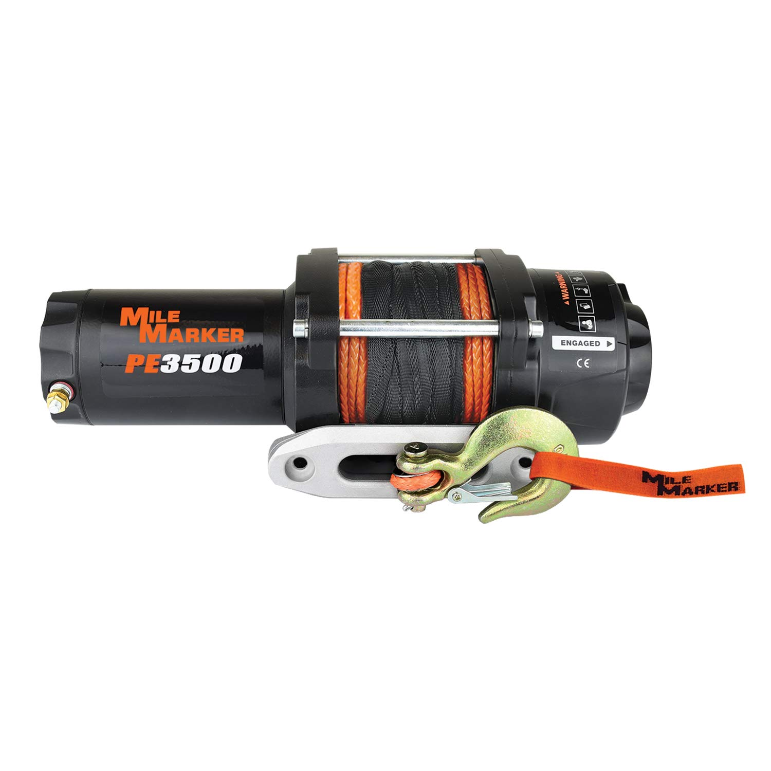 Mile Marker 77-53112BW PE3.5(ES) ATV/UTV Premium Sealed Electric Winch w/Synthetic Rope - 3,500 lb. Capacity