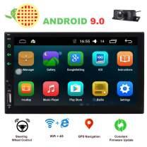 EINCAR 2 Din Car Stereo Touch Screen Car Radio Bluetooth Double Din Android 9.0 Car Player Head Unit GPS Navigation FM/AM RDS Autoradio Video AUX WiFi Mirrorlink Remote Control Rear Camera
