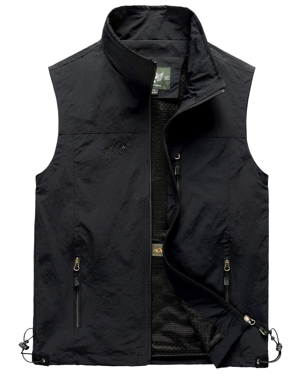 Hixiaohe Men's Casual Lightweight Outdoor Vest Work Fish Photo Travel Vest