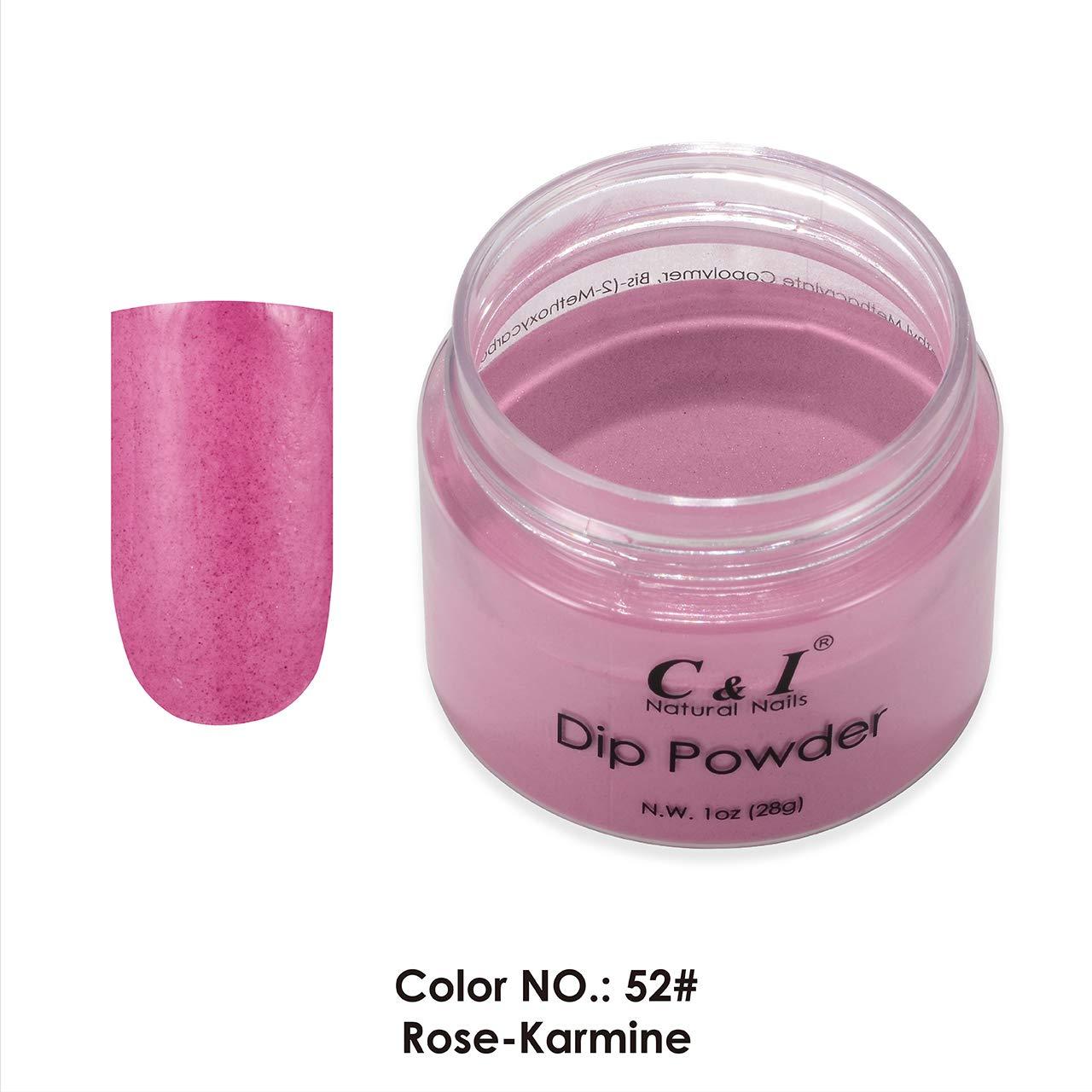 C & I Dip Powder Color No.052 Rose-Karmine Red Color System