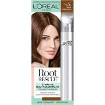 L'Oreal Paris Magic Root Rescue 10 Minute Root Hair Coloring Kit, Permanent Hair Color with Quick Precision Applicator, 100% Gray Coverage, 5G Medium Golden Brown, 1 kit (Packaging May Vary)