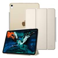 """Fintie Case for iPad Pro 12.9"""" 3rd Gen 2018 [Supports 2nd Gen Pencil Charging Mode] - Lightweight Slimshell Stand Cover with Translucent Frosted Back Protector, Auto Wake/Sleep, Champagne Gold"""