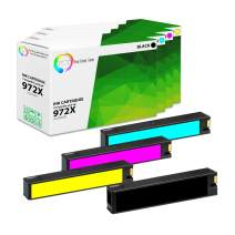 TCT Compatible Ink Cartridge Replacement for HP 972X High Yield Works with HP PageWide Pro 452dn 477dn 477dw 552dw Printers (Black F6T84AN, Cyan L0R98AN, Magenta L0S01AN, Yellow L0S04AN) - 4 Pack