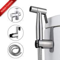 Handheld Bidet Sprayer for Toilet-Adjustable Water Pressure Control with Bidet Hose for Feminine Wash, Stainless Steel Brushed Nickel Cloth Diaper Bidet Toilet Sprayer for Baby Wash
