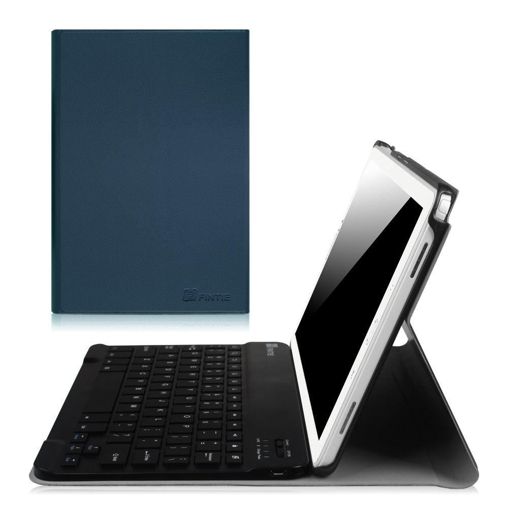 Fintie Keyboard Case for Samsung Galaxy Tab A 10.1 with S Pen 2016, Slim Light Weight Stand Cover with Detachable Wireless Bluetooth Keyboard for Tab A 10.1 with S Pen(SM-P580/P585), Navy Blue