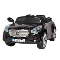VALUE BOX Kids Ride On Car 12V Battery Motorized Vehicles Electric Cars for Kids with Manual/2.4G Remote Control,LED Headlights,Music,Horn,Safety Belt,Automatic Reset Fuse(Black)