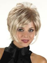 """GNIMEGIL Natural Short Blonde Wigs for White Women Straight Bob Hair Wigs with Long Bangs Heat Resistant Synthetic Full Wigs for Women Head Circumference 23"""" N.W:110g"""