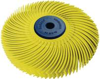 """Dedeco Sunburst - 3"""" TC 6-PLY Radial Bristle Discs - 1/4"""" Arbor - Industrial Thermoplastic Rotary Cleaning and Polishing Tool, Coarse 80 Grit (1 Pack)"""