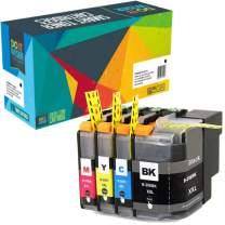 Do it Wiser Compatible Ink Cartridge Replacement for Brother LC20E LC20EBK MFC-J985DW MFC-J5920DW MFC-J775DW (Black Cyan Magenta Yellow, 4-Pack)