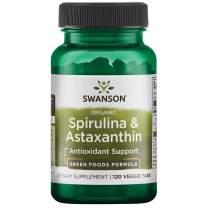 Swanson Organic Spirulina & Astaxanthin 120 Veg Tabs
