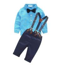 YUN HAO Baby Boy Clothing Sets Gentle Pants Clothing Set with Bowtie