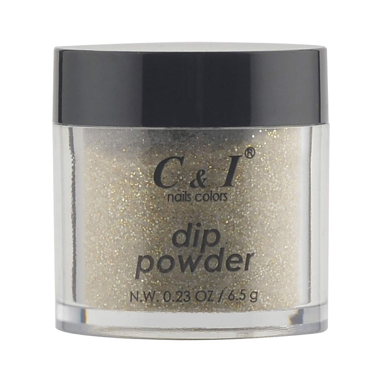 C & I Dipping Powder, Nail Colors, Gel Effect, Color # 62 Gold Coast, 0.23 oz, 6.5 g, Pearl Shine Color System (4 pcs)