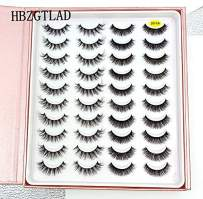 HBZGTLAD 20 Pairs 3D Soft Mink False Eyelashes Handmade Wispy Fluffy Long Mink Lashes Natural Eye Extension Makeup Kit Cilios (3D-XA)