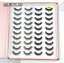 HBZGTLAD 20 Pairs 3D Soft Mink False Eyelashes Handmade Wispy Fluffy Long Mink Lashes Natural Eye Extension Makeup Kit Cilios (3D-XA)