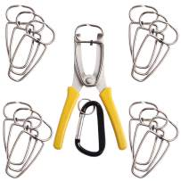 Feiyang 13 Miter Spring Clamps with Pliers for Woodworking,Wood Trim,Picture Frames and Moldings