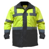 Utility Pro UHV1004 High-Vis Contractor Safety Jacket with Waterproof Dupont Teflon Protection, Lime/Black, X-Large