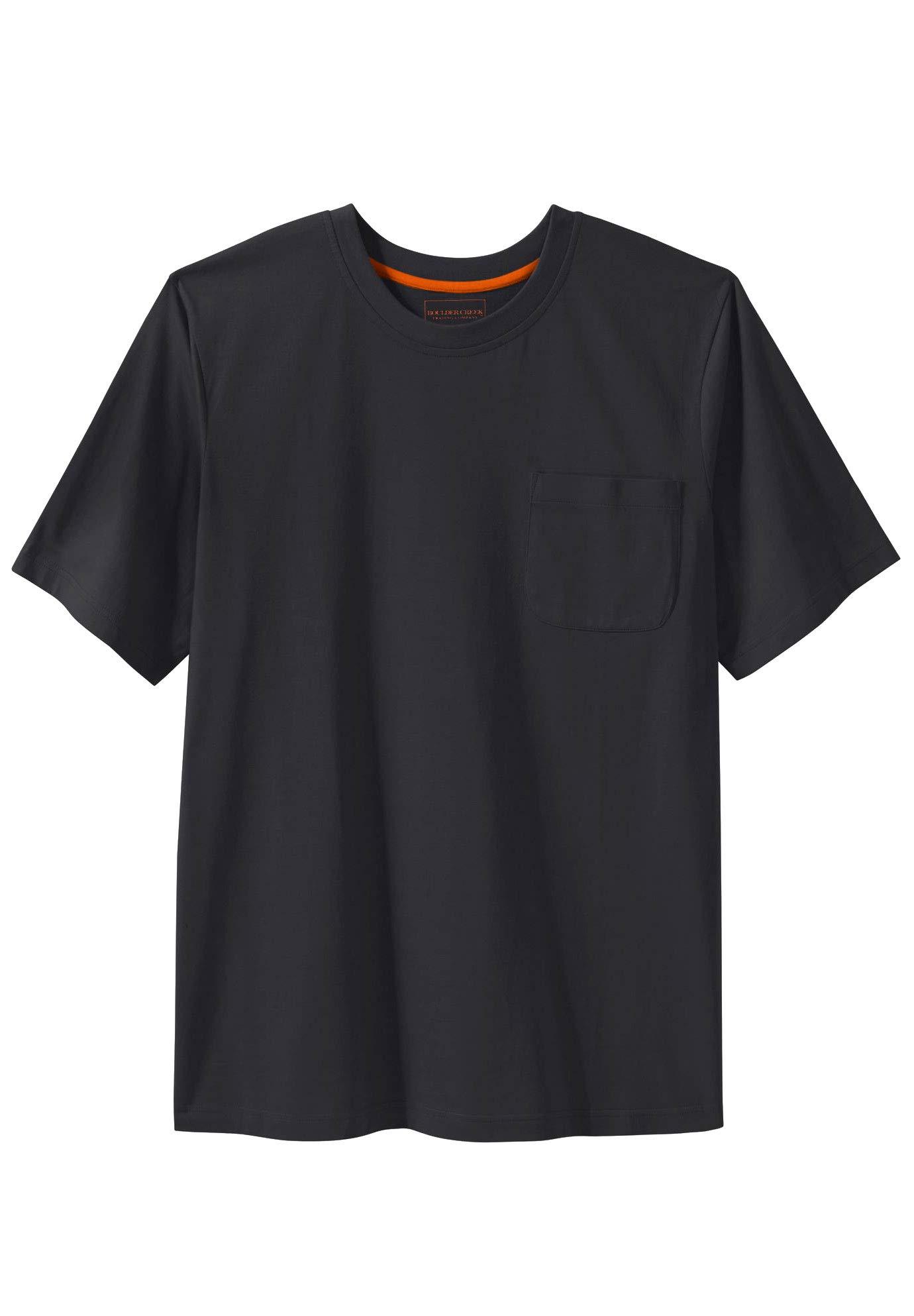 Boulder Creek by Kingsize Men's Big & Tall Heavyweight Crewneck Pocket T-Shirt