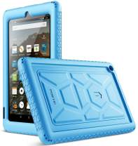 Poetic All-New Fire 7 Tablet Case (9th Gen, 2019 Release), Heavy Duty Shockproof Kids Friendly Silicone Protective Case Cover, Corner Protection, Sound-Amplification Feature, Blue