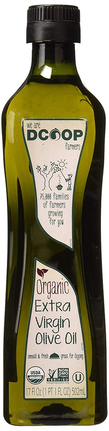 DCOOP Extra Virgin Olive Oil, Organic, 17 Ounce