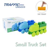 UNiPLAY Traffic Soft Building Blocks Truck Toys for Ages 3+ Toddlers and Kids Learn to Build and Move (Small Truck Set)