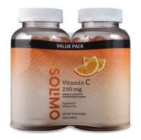 Amazon Brand - Solimo Vitamin C 250mg, 150 Gummies, 2 Gummies per Serving (Pack of 2)