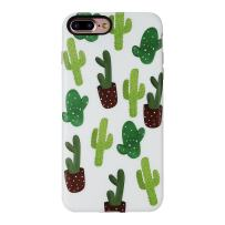 iPhone 8 Plus Case for Girls/iPhone 7 Plus Summer Case,GOLINK Summer Series Slim-Fit Ultra-Thin Anti-Scratch Shock Proof Dust Proof Anti-Finger Print TPU Gel Case for iPhone 7/8 Plus-Catcus I