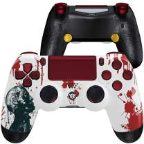 HexGaming Esports Spike Controller 2 Mappable Rear Buttons & Interchangeable Thumbsticks & Triggers Stop for PS4 Controller Custom Controller PC Wireless FPS Gamepad - Zombie Blood