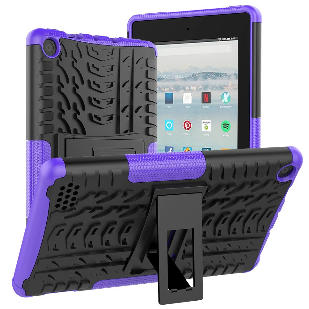 ROISKIN F1re Tablet 7 inch Tablet Case 2019/2017 Released 9th /7th Generation,[Kickstand Feature] Dual Layer Heavy Duty Shockproof Impact Resistance Protective Case