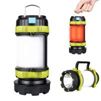 Rechargeable Camping Lantern, LED Lantern Flashlight 4000mAh Power Bank, 6 Modes, IPX4 Waterproof, USB Charging Cable Included, Perfect for Camping Light Hiking Emergency or Home Using (1 PACK)