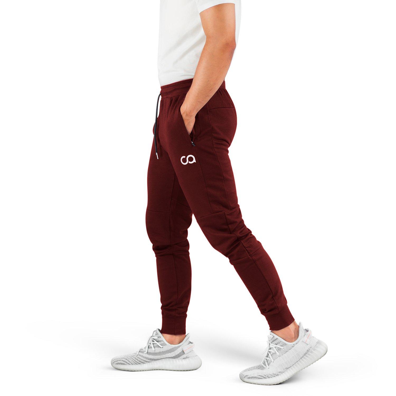 Contour Athletics Men's Joggers (Cruise) Sweatpants Men's Active Sports Running Workout Pants with Zipper Pockets
