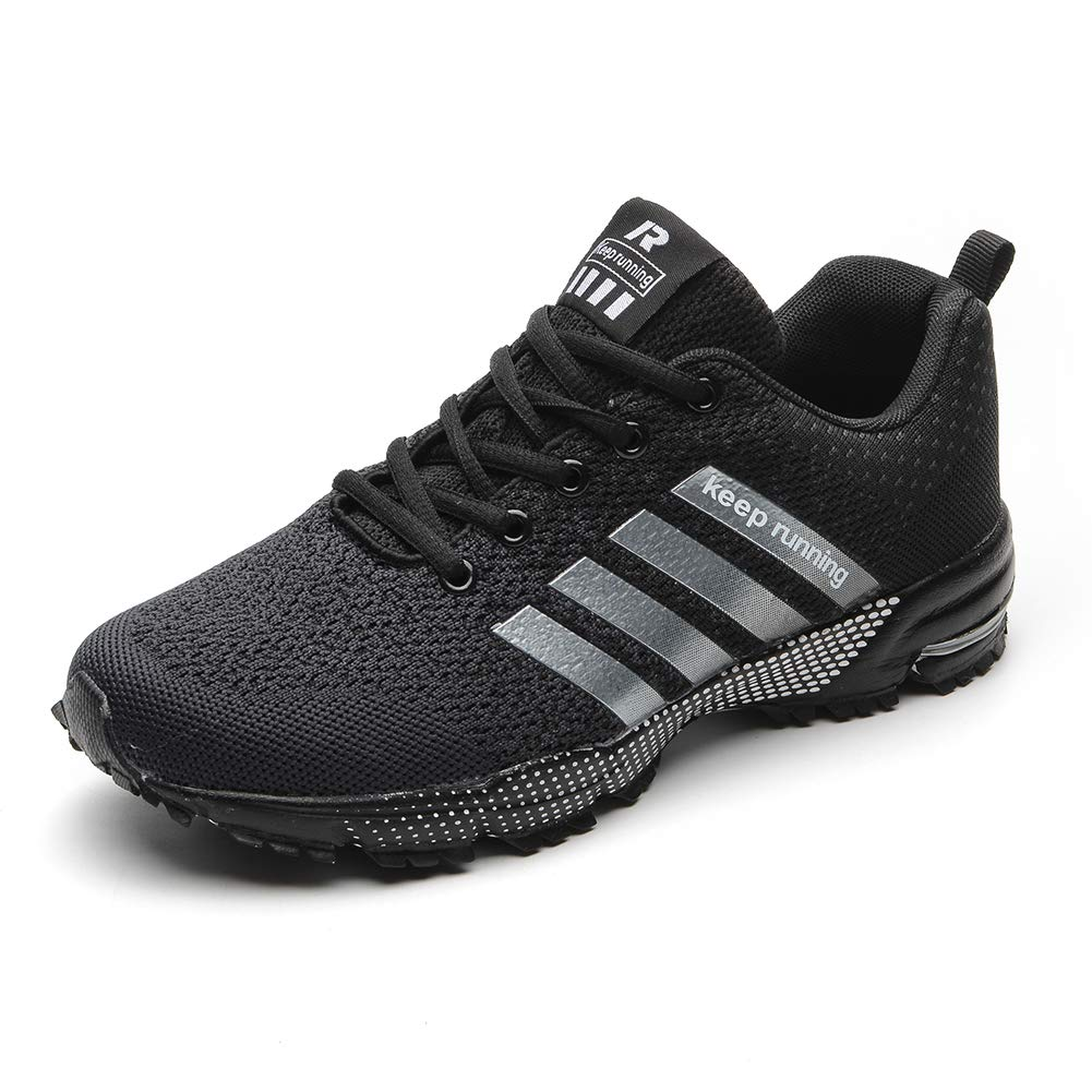 Mens Womens Running Shoes Knit Breathable Casual Walking Athletic Fitness Multi-Function Sports