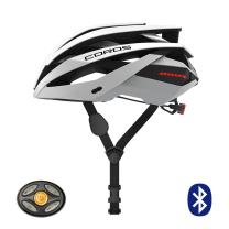 Coros Omni Smart Cycling Helmet | Bone Conducting Audio, LED Tail Lights & Removable Visor, 18 Cooling Vents, Bluetooth (Music, Calls, Navigation), Lightweight
