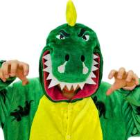 iSZEYU Dinosaur Onesie Animal Costumes Plush One Piece Pajamas for Adults Teens