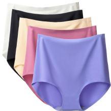 ARONAS Women's Seamless Underwear 3/5 Pack Mid High Waist Plus Size Comfortable Briefs Hipster Panties