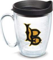 Tervis 1084934 Cal State Long Beach Logo Tumbler with Emblem and Black Lid 16oz Mug, Clear