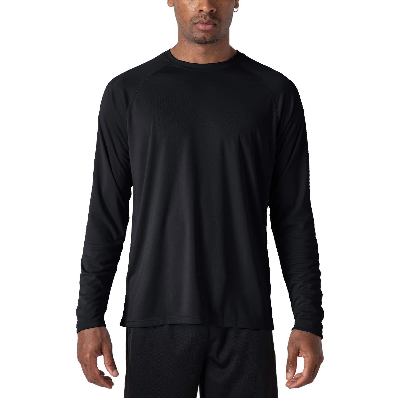 MAGCOMSEN Men's Sun Protection Fishing Workout Athletic Shirts UPF 50+ UV Long Sleeve Moisture Wicking