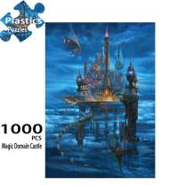 Jigsaw Puzzle 1000 Pieces Magic Domain Castle Puzzles for Adults Recyclable Plastic Jigsaw Puzzles Entertainment Toys 15 x 21 Inches