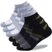BERING Men's Low Cut Athletic Running Socks (6 Pack)