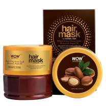 WOW Moroccan Argan Oil Hair Mask For Normal Hair - Hydrating For Deep Conditioning & Healthy Hair Growth - Enhanced Moisturizing For Frizz, Split Ends, and Thin Hair - Sulfate, Paraben Free - 200ml